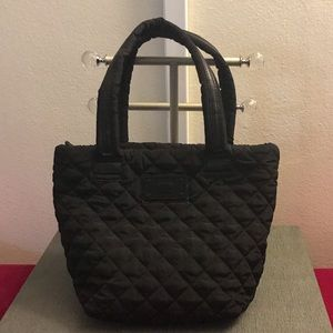 Steve Madden black puffy handbag